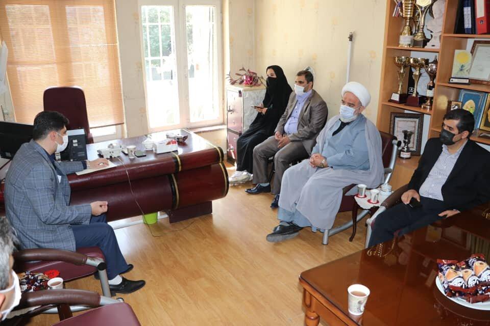 بازدید سرپرست شهرداری و رئیس شورای اسلامی شهر تبریز از کانون نابینایان بصیر