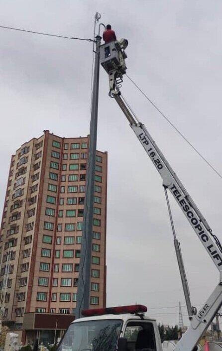 عملیات استقرار سامانه نظارت تصویری در پل اشرف نیا