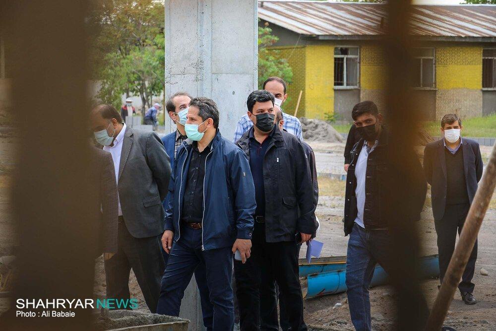 بازدید شهردار تبریز از بیمارستان رازی و پروژه های تقاطع ارتش و پارک باغشمال